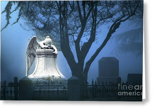 Seraphim Angel Photographs Greeting Cards - Broken Angel Greeting Card by Peter Piatt