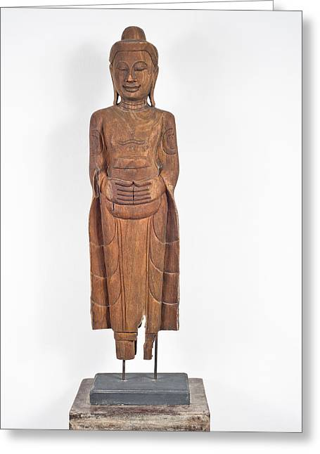 Brown Head Sculpture Greeting Cards - Buddha  Greeting Card by Ulrich Schade