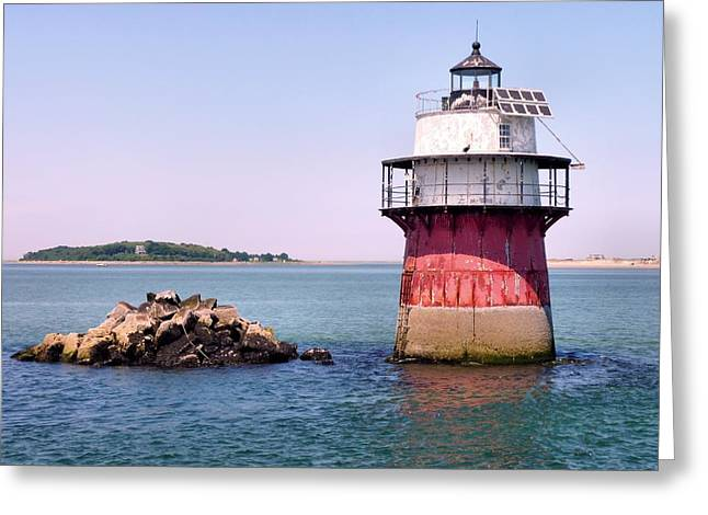 Duxbury Greeting Cards - Bug Light Greeting Card by Janice Drew
