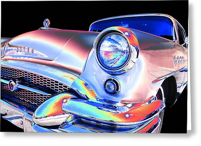 1955 Buick Greeting Cards - Buick Greeting Card by Allan Price