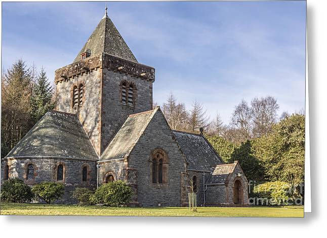 Southwick Greeting Cards - Building Church Southwick parish church Dumfries and Galloway Greeting Card by Hugh McKean