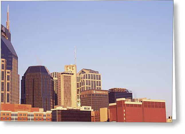 Nashville Greeting Cards - Buildings In A City, Bellsouth Greeting Card by Panoramic Images