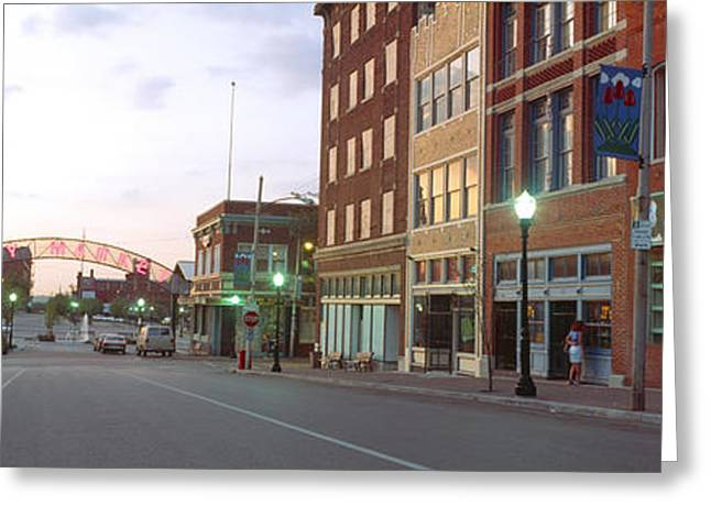Jackson County Greeting Cards - Buildings In A City, Kansas City Greeting Card by Panoramic Images