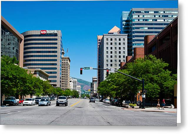Downtown District Greeting Cards - Buildings In A Downtown District Greeting Card by Panoramic Images