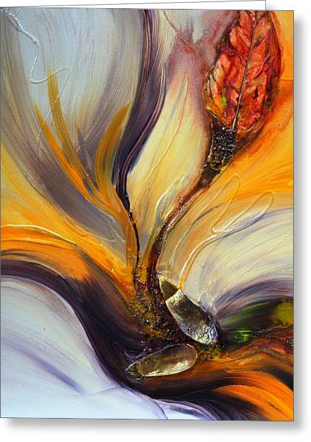 Burst Paintings Greeting Cards - Burst Greeting Card by Pat Purdy