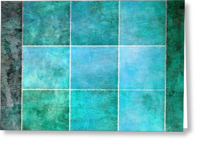 Blue Green Water Mixed Media Greeting Cards - 3 By 3 Ocean Greeting Card by Angelina Vick