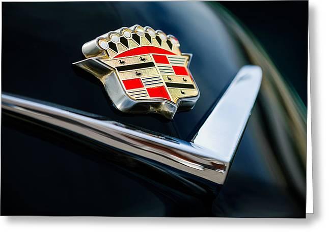 Cadillac Greeting Cards - Cadillac Emblem Greeting Card by Jill Reger