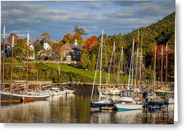 New England Village Greeting Cards - Camden Maine Greeting Card by Brian Jannsen
