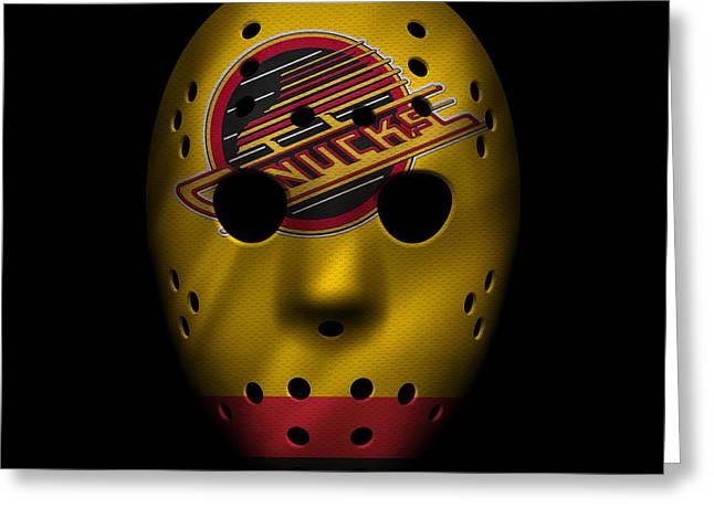 Vancouver Canucks Greeting Cards - Canucks Jersey Mask Greeting Card by Joe Hamilton