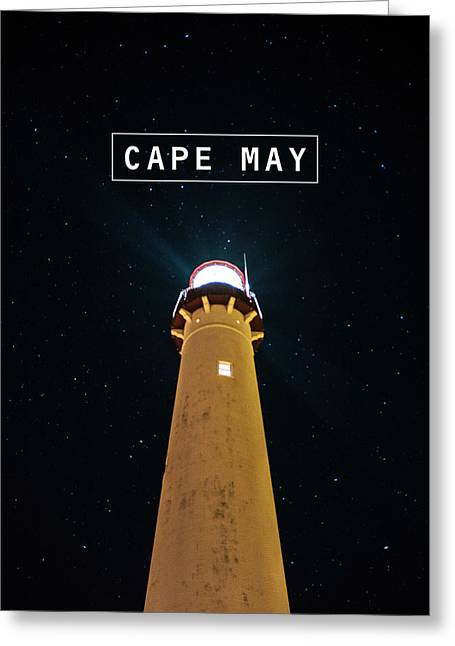 Gear Pyrography Greeting Cards - Cape May Greeting Card by America Roadside