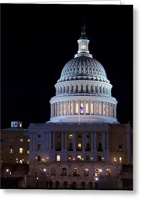 Congressman Greeting Cards - Capitol Building at Night Washington DC USA Greeting Card by Rostislav Ageev