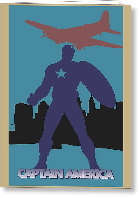 Thor Greeting Cards - Captain America Greeting Card by Joe Hamilton