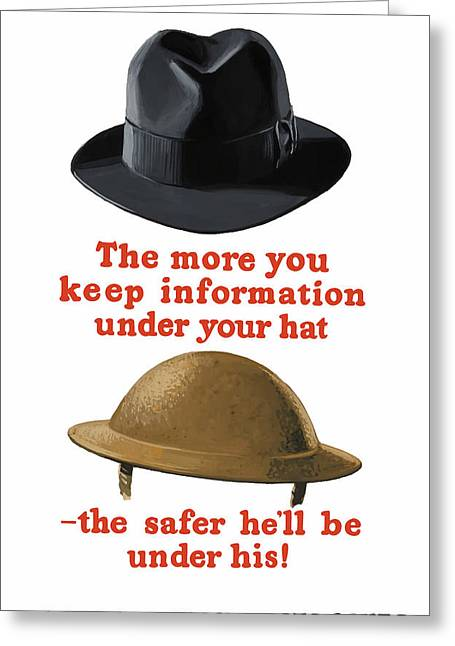 Ww11 Greeting Cards - Careless Talk Costs Lives Greeting Card by War Is Hell Store