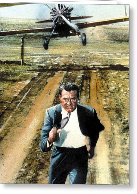 Cary Grant In North By Northwest  Greeting Card by Silver Screen