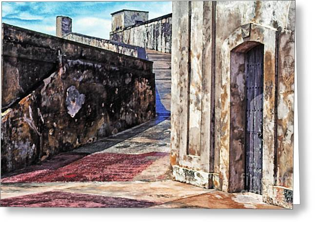 Old San Juan Greeting Cards - Castillo de San Cristobal Greeting Card by Thomas R Fletcher