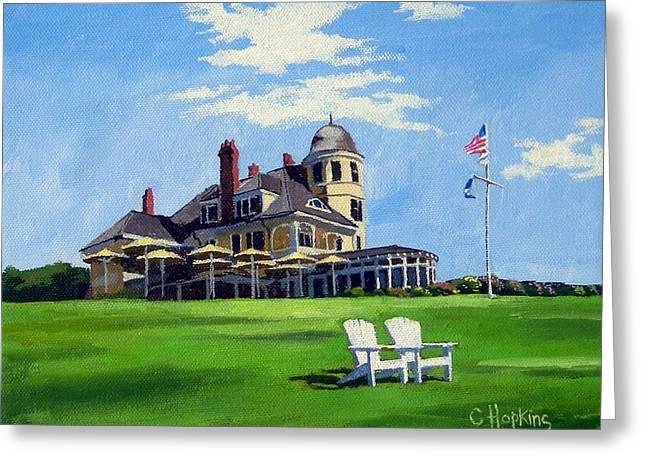 Hopkins Island Greeting Cards - Castle Hill Inn Newport Rhode Island Greeting Card by Christine Hopkins