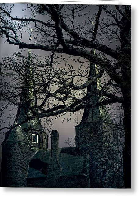 Ghost Castle Greeting Cards - Castle Greeting Card by Joana Kruse