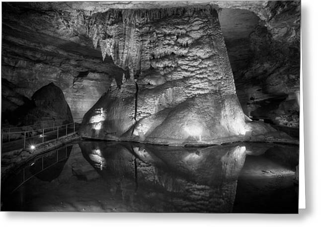 Cathedral Rock Greeting Cards - Cathedral Caverns in Alabama Greeting Card by Mountain Dreams