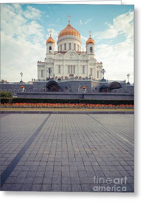 Leaden Sky Greeting Cards - Cathedral of Christ the Saviour Greeting Card by Nikita Buida