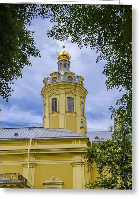 Cathedral Of Saints Peter And Paul - St Petersburg - Russia Greeting Card by Jon Berghoff