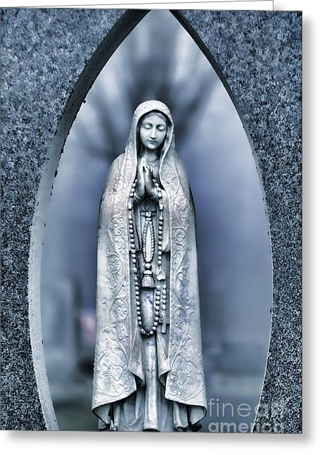 Religious Greeting Cards - Cemetery Greeting Card by HD Connelly