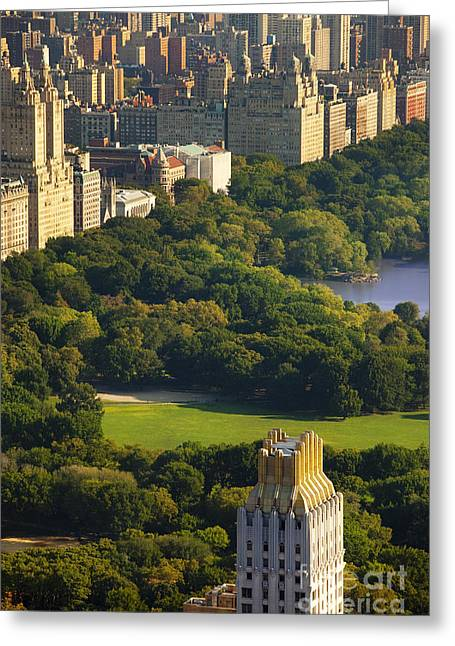 Central Greeting Cards - Central Park Greeting Card by Brian Jannsen