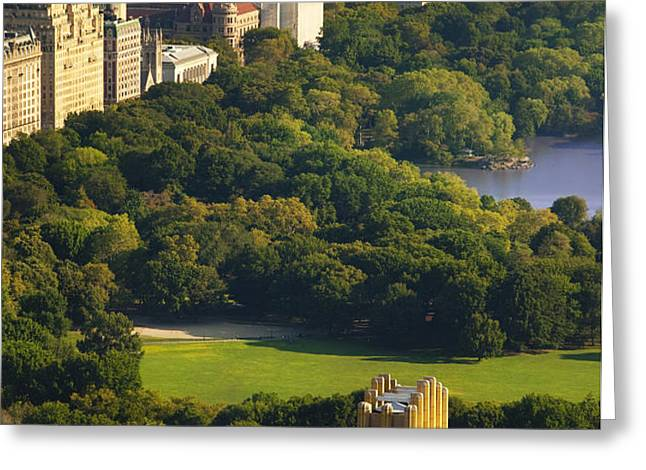 Central Park Greeting Card by Brian Jannsen