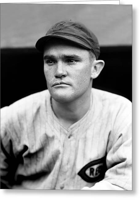 Cincinnati Reds Greeting Cards - Charles F. Red Lucas Greeting Card by Retro Images Archive