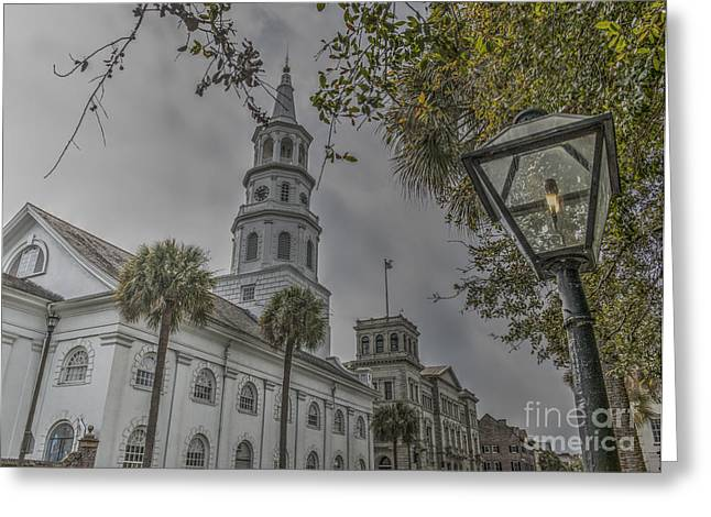 1750s Greeting Cards - Charleston Four Corners Greeting Card by Dale Powell