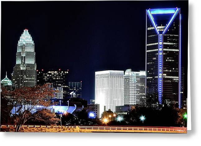 Charlotte Bobcats Greeting Cards - Charlotte Towers Greeting Card by Frozen in Time Fine Art Photography