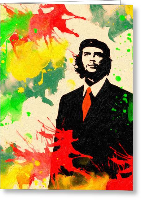 Human Rights Leader Greeting Cards - Che Guevara Greeting Card by Celestial Images