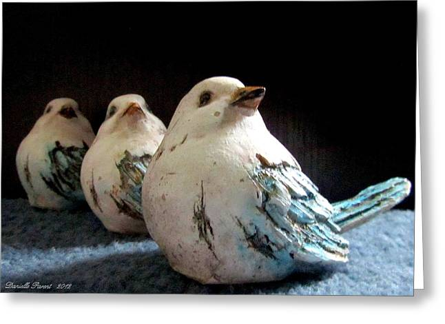 Museum Quality Greeting Cards - 3 Cheeky Chicks 2 Greeting Card by Danielle  Parent