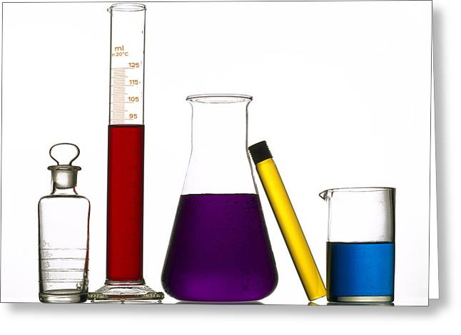 Chemistry Greeting Card by BERNARD JAUBERT
