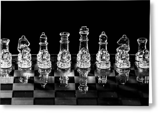 Chess Piece Digital Greeting Cards - Chess Game Set Greeting Card by Keith Thorburn LRPS