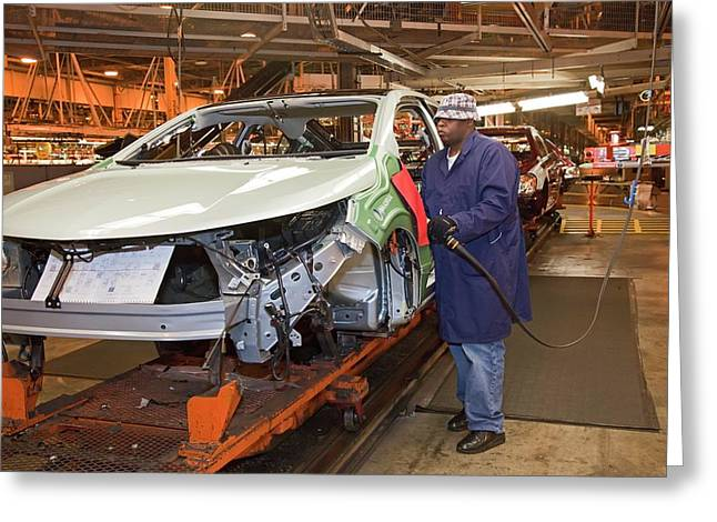 Chevrolet Volt Assembly Line Greeting Card by Jim West