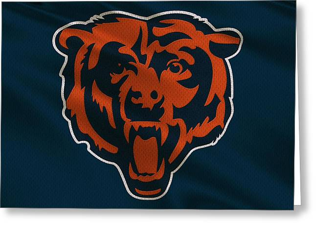 Team Greeting Cards - Chicago Bears Uniform Greeting Card by Joe Hamilton