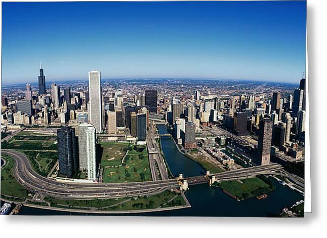 On Location Greeting Cards - Chicago Il Greeting Card by Panoramic Images