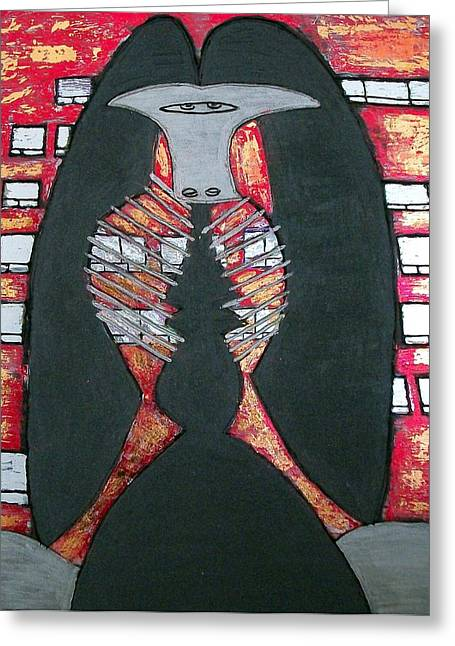 Magnificent Mile Mixed Media Greeting Cards - Chicago Picasso Sculpture Greeting Card by Char Swift