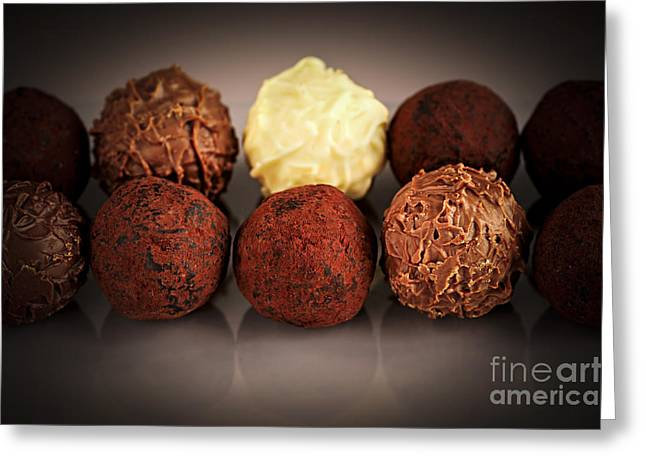 Chocolate truffles Greeting Card by Elena Elisseeva