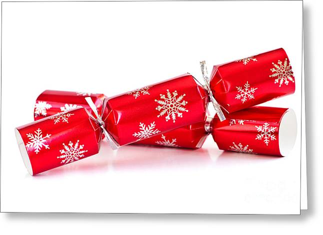 Bangs Greeting Cards - Christmas crackers Greeting Card by Elena Elisseeva