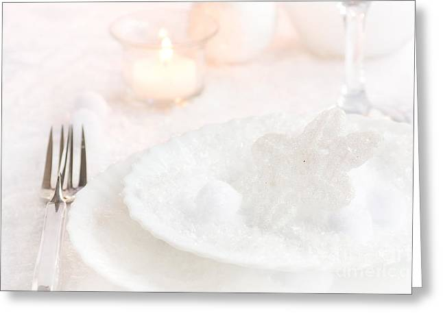 Banquet Greeting Cards - Christmas dinner Greeting Card by Mythja  Photography