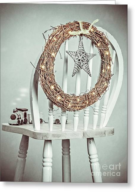 Christmas Natural Greeting Cards - Christmas Wreath Greeting Card by Amanda And Christopher Elwell