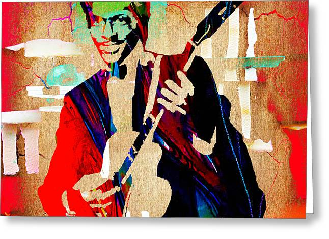 Chuck Berry Collection Greeting Card by Marvin Blaine