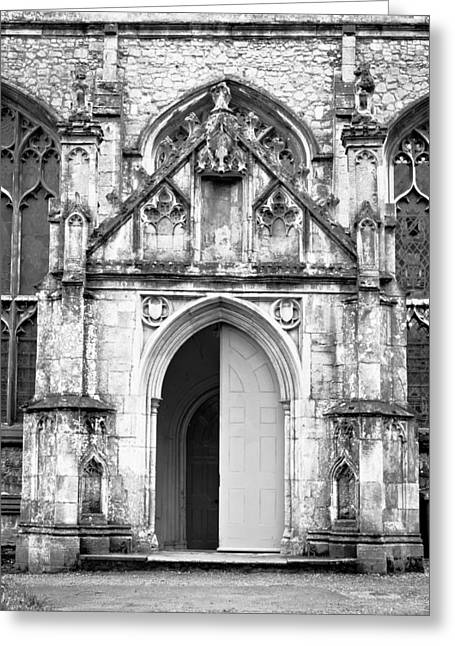 Historic England Greeting Cards - Church door Greeting Card by Tom Gowanlock