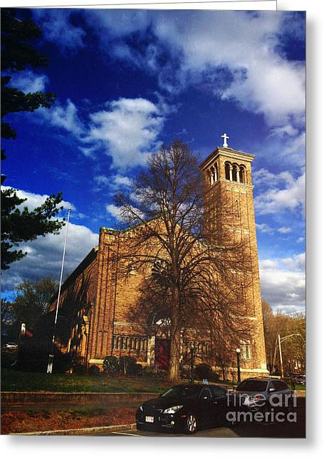 Church Street Greeting Cards - Church Greeting Card by HD Connelly