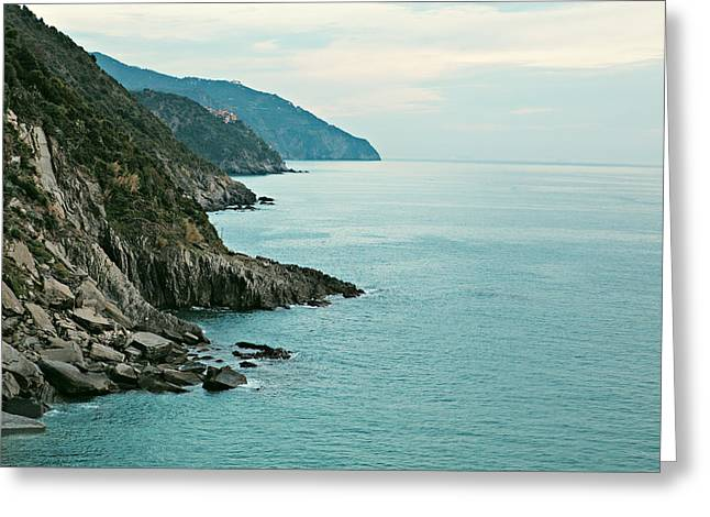 Monterosso Greeting Cards - Cinque Terre Italy Greeting Card by Kim Fearheiley