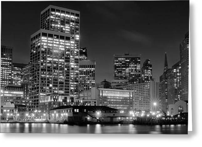 Downtown San Francisco Greeting Cards - City at night Greeting Card by Celso Diniz