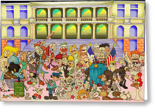 Divorce Greeting Cards - City Hall of Love Greeting Card by Paul Calabrese