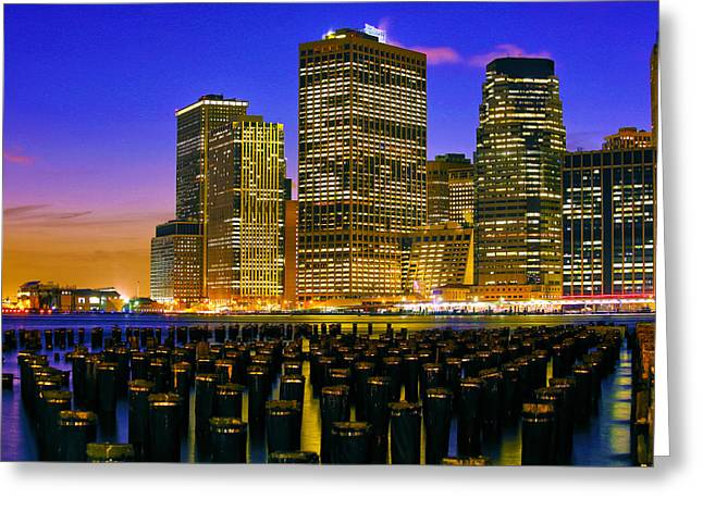 City Lights Greeting Cards - City Lights Greeting Card by Mitch Cat