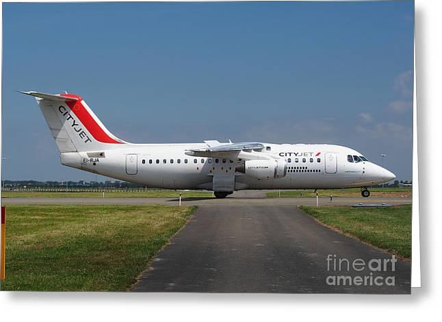 Cityjet British Aerospace Avro RJ85 Greeting Card by Paul Fearn